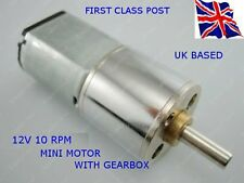 12 Volt - 10 RPM Motor with Gbox, for Replacement : RASPBERRY Pi : ARDUINO Etc.