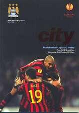 MAN CITY v FC PORTO EUROPA LEAGUE MINT PROGRAMME 2011/12 MANCHESTER