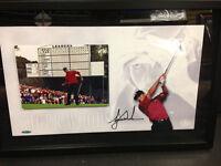 Tiger Woods Framed Signed Picture UDA COA (BuyMVP)