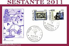 ITALIA FDC CAPITOLIUM 304 ESPOSIZIONE MONDIALE FILATELIA 1976 ANNULLO MATERA C95