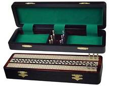 "Splendid Cribbage Board & Box in Rosewood / Maple 12"" - 2 Tracks"