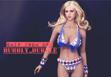 "1/6 Sexy Bikini Set For 12"" Hot Toys Phicen Kumik Female Figure SHIP FROM USA"