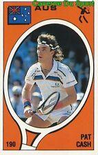 190 PAT CASH AUSTRALIA TENNIS STICKER SUPERSPORT 1988 PANINI RARE & NEW