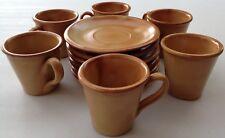 sc005 service à café tasses et sous tasses en grès vintage rétro