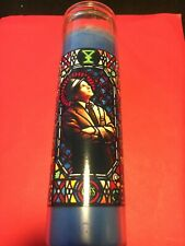 FRANK SINATRA GLASS DEVOTION PRAYER CANDLE RAT PACK RARE BLUE MINT NEW !!