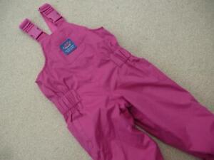 JOJO MAMAN BEBE Waterproof DUNGAREES Trousers 18-24m FLEECE LINED All-In-One