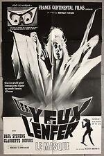 Affiche LES YEUX DE L'ENFER The Mask JULIAN ROFFMAN Paul Stevens 60x90cm *