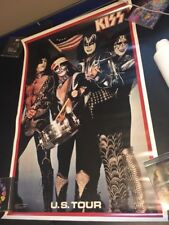 Kiss 1976 Aucoin Era US Tour Poster!! Simmons Stanley Frehley Criss