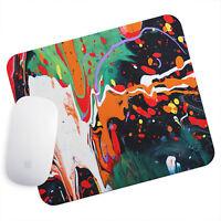 UK Seller Anti-Slip Gamimg Mouse Pad Mat PC Laptop  Graffiti Orange White