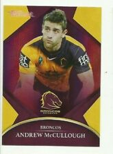 2016 NRL TRADERS PARALLEL BRISBANE BRONCOS ANDREW McCULLOUGH CARD PO07 FREE POST