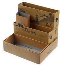 DIY Paper Stationery Makeup Cosmetic Desk Organizer Board Fairy Tale Storage Box