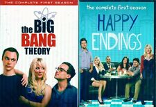 BIG BANG THEORY+HAPPY ENDINGS Season 1-Tv Comedy Combo Starter Set-NEW 5 DVD
