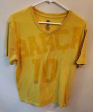 BARCA 10 FCB SOCCER Short Sleeve V neck T-SHIRT Mens yellowSize XL slim fit