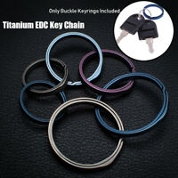Hanging Buckle Real Titanium Keychain Creative Keyring EDC Key Rings