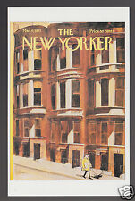 THE NEW YORKER MAGAZINE COVER ART POSTCARD March 6, 1971 Charles Saxon Buildings