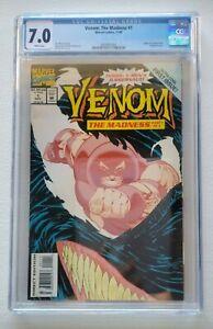 Venom: The Madness #1 CGC 7.0 White Pages (1993) Juggernaut