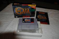 ILLUSION OF GAIA SUPER NINTENDO SNES GAME COMPLETE IN BOX NEAR MINT