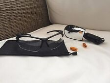 Cycling Set, Oakley Similar Transparent Sunglasses + Cateye Similar Cycle Mirror