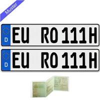 2 x EU Kfz Kennzeichen historisch Nummernschilder Autoschilder Oldtimer + ETUI
