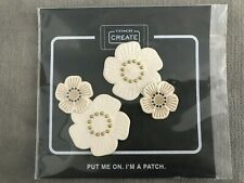 Coach Tea Rose Shoe Patch Pack of 2  Chalk Colour
