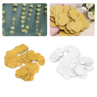 4m Heart Shape Paper Banner Garland Hanging Backdrop Glitter Wedding Party Decor