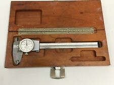 Brown Amp Sharpe 6 Dial Caliper Model 599 579 4 Swiss Stainless Steel Wood Case