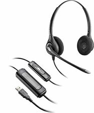 80762-42 Plantronics SupraPlus D261N Stereo Headset with DA USB Adapter-M (Noise