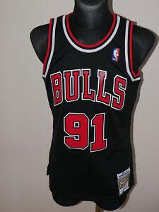 Dennis Rodman Chicago Bulls Black Swingman Jersey Mitchell & Ness Size ADULTS M