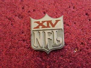 1980 Super Bowl 14 Media Press Pin Pittsburgh Steelers / Los Angeles Rams #2049