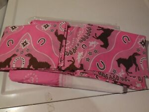 NEW FULL REPLACEMENT BED SKIRT AND PILLOW SHAMS FOR PONY BANDANA COMFORTER SET