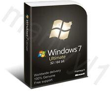 Rottami/Barebone PC con autentico Windows 7 Ultimate 32/64 Bit COA CODICE di licenza