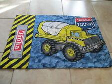 Tonka Toys Dump Truck Cement Mixer Blue Yellow Two Sides Pillowcase