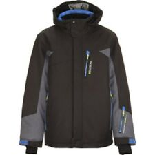 KILLTEC IVANIO JUNIOR SKI JACKET EU 140 UK AGE 10  BLACK / GREY MELANGE BOYS