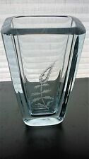 Vintage strombergshyttan signé suédois verre cristal vase