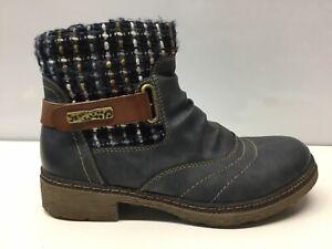 Spring Step Citrine-Blu, Blue Fashion Boots, Women's Size 9(40)M. ⭐️
