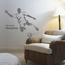 Football Player Star Sports mural Wall Sticker Decal Boy Kids Room Mural Decor