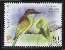 SINGAPORE 2007 BLUE-THROATED BEE-EATER $0.30 1ST RE-PRINT (2007B) 1 STAMP USED