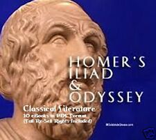 CD - Homer's Illiad & Odessey Collection - 10 eBooks (Resell Rights)