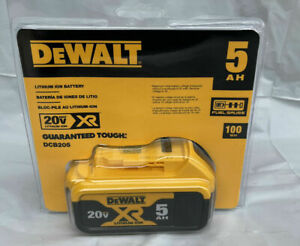 NEW Dewalt DCB205 20V Max XR Fuel Gauge Battery 5.0Ah