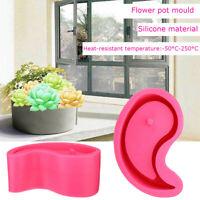 Gossip Flower Pot Silicone Molds Garden Planter Cement Concrete Vase Soap New