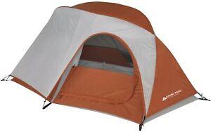 1 Person Backpacking Tent 3 Season Camping Large Door 7 x 5ft Ozark Trail Orange