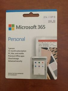 Microsoft 365 Personal 1 Year Subscription [Digital Download]