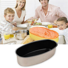 Non-Stick Oval Shape Cake Pan Tin Mold Baking Cheese Bread Jelly Mold DIY