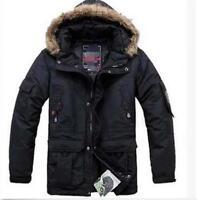 Men's Waterproof Coat Warm Winter Militarys Duck Down Outdoor Jacket Parka Coat@