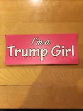 I'M A TRUMP GIRL STICKER women for Donald President '16 PINK