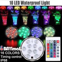 LED Lumière Aqua Télécommande Humeur Lampe sous-marin changement de couleur RGB