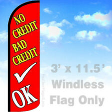 NO CREDIT BAD CREDIT OK - WINDLESS SwooperFlag Feather Banner Sign 3x11.5 - rq