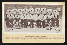 1936 CROWN BRAND Canadian Olympic Hockey Team Photo Card Vintage Old Card NHL