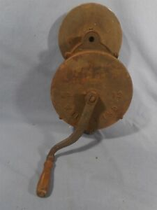 Antique/VTG Whirlwind Hand Turn Grinder No.12 Clamp-On Bench Sharpener Cast Iron