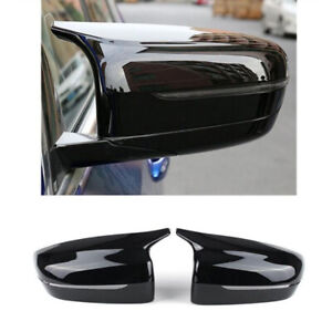 Car Side Mirror Caps Rearview Covers Glossy Black For BMW 5-Series 2017-2021